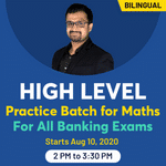 Quantitative Aptitude for IBPS, SBI, RBI exams 2020 live online classes for Maths | Complete Bilingual Batch