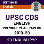 English Previous Years Question Papers of UPSC CDS 2010-20 (with Solutions) | Online Test Series