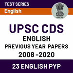 English Previous Years Question Papers of UPSC CDS 2008-2020 (with Solutions) | Online Test Series