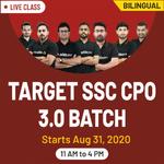 Target SSC CPO 3.O Batch | Bilingual | Live Class