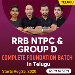 RRB NTPC and Group D Complete foundation batch Course: Railways NTPC Online Classes in Telugu