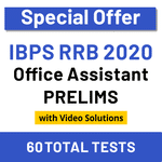 IBPS RRB Online Test Series 2020 RRB Office Assistant Prelims Test Series (Special Offer)