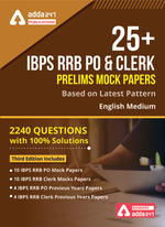 IBPS RRB PO E-Mock Test & Clerk Prelims (with solutions) | IBPS English Medium E-book by Adda247