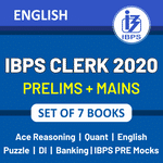 Latest IBPS Clerk 2020 Books Kit for (Prelims + Mains) in English Printed Edition