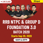 Live Online Classes for RRB NTPC and Group D 2020 | Complete Bilingual Foundation Batch 3.0