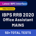 IBPS RRB Online Test Series for Mains (with solutions) Bilingual RRB Office Assistant Mock Test