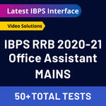 IBPS RRB 2020-21 Online Test Series for Mains (with solutions) Bilingual RRB Office Assistant Mock Test