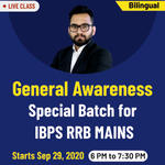 General awareness for IBPS RRB 2020/RRB Mains Online Coaching Classes