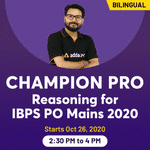Champion Pro - IBPS PO MAINS REASONING 2020 | BILINGUAL | LIVE CLASS