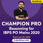 Champion Pro - IBPS PO MAINS REASONING 2020   BILINGUAL   LIVE CLASS