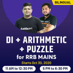 DI + Arithmetic + Puzzle for RRB MAINS |Bilingual | Live Class