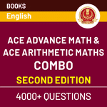 Math's Combo for SSC Exams | Ace Advance & Ace Arithmetic (English Printed Edition)