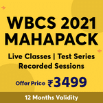 WBCS KA MAHAPACK | Complete WBCS 2021 Preparation | Prelims, Mains and Optional (History) with Mock Test Series (Validity 12 Months)