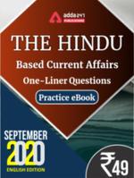 THE HINDU Newspaper Based One-liners SEPTEMBER 2020 Ebook (English Medium)