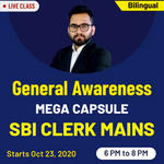 General Awareness Crash Course for SBI Clerk Mains 2020 MEGA CAPSULE | Bilingual Live Classes (Batch)