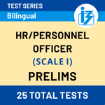IBPS SO HR/Personnel Officer Scale-I Prelims 2020/21 Online Test Series