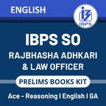 IBPS SO Rajbhasha Adhikari | Law Officer Prelims 2020-2021 Books Kit (English Printed Edition)