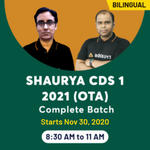 SHAURYA - CDS 1 (OTA) ONLINE COACHING 2021 | Bilingual Live Class