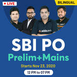 SBI PO Combo | Prelims + Mains 2020 | Online Live Class