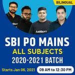 SBI PO MAINS ONLINE COACHING | BILINGUAL LIVE CLASS