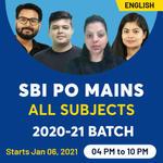SBI PO MAINS ONLINE COACHING | ENGLISH LIVE CLASS