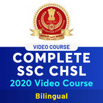 SSC CHSL 2020 Video Lectures - Complete Video Course