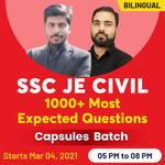 SSC JE CIVIL 1000+ Most Expected Questions Capsules Batch| Bilingual| Live Class