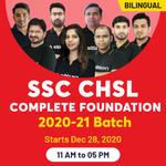 SSC-CHSL ONLINE COACHING 2020-2021  Complete Foundation Batch   BILINGUAL LIVE CLASS