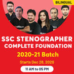 SSC Stenographer ONLINE COACHING 2020-2021  Complete Foundation Batch   BILINGUAL LIVE CLASS