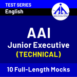 AAI Junior Executive (Technical) 2020-21 Online Test Series