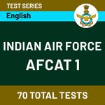 IAF AFCAT-1 2021 Online Test Series