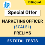 IBPS SO Marketing Officer Scale-I Prelims 2020/21 Online Test Series (Special Offer)