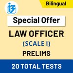 IBPS SO Law Officer Scale-I Prelims 2020/21 Online Test Series (Special Offer)