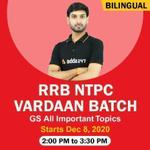 VARDAAN - RRB NTPC GS | All Important topics | Bilingual Live Class