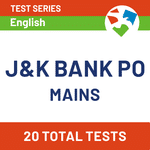 JK Bank PO Test Series 2020-2021 | J&K Bank PO Mains Mock Test by Adda247