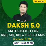 Banking Exams Online Live Classes for RRB, SBI, RBI and IBPS | Complete Bilingual Daksh 5.0 Batch by Adda247
