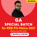RRB PO Mains Online Coaching Classes for General Awareness 2021 | Complete Bilingual Special Batch by Adda247