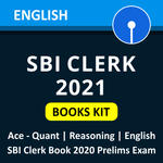 SBI Clerk 2021 Books Kit English Edition (By ADDA247)
