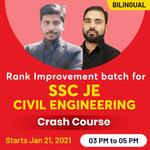 Rank Improvement batch forSSC JE Civil EngineeringCrash Course| Bilingual| Live Class