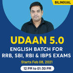 Udaan 5.0 Batch for RRB, SBI, RBI and IBPS Exams English Online Coaching | Bilingual | Live Classes