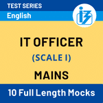 IBPS SO IT Officer Scale-I Mains 2020/21 Online Test Series