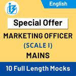 IBPS SO Marketing Officer Scale-I Mains 2020/21 Online Test Series (Special Offer)