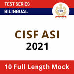 CISF ASI Mock Test 2021: CISF Model Question Paper-based Test Series for ASI 2021 by Adda247