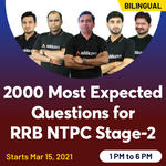 2000 Most Expected Questions for RRB NTPC Stage 2 | Bilingual | Live Class