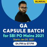 GA Capsule Batch for SBI PO Mains 2021 | Bilingual Live Classes for General Awareness for Banking with Adda247