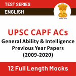UPSC CAPF Online Mock Tests | UPSC CAPF ACs General Ability & Intelligence Previous Year Papers 2009-20 | Online test series for CAPF with Previous Year Papers by Adda247