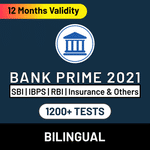 Bank Exam Online Test Series Prime for SBI PO & Clerk, IBPS PO & Clerk, RRB PO & Clerk, RBI  Assistant and Others 2021
