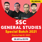 SSC General Studies 2021 | Study General Studies for SSC CGL, SSC CHSL, SSC CPO & SSC Steno | Live Bilingual SSC General Studies Classes from Adda247
