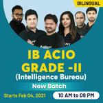 IB ACIO Grade -II (Intelligence Bureau) | Bilingual | Live Class