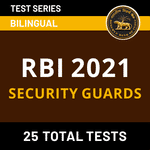 RBI Security Guards 2021 Online Test Series